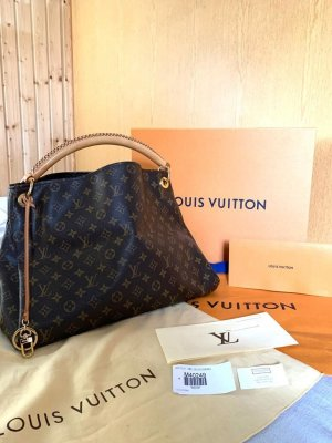 Louis Vuitton Shopper dark brown-light brown