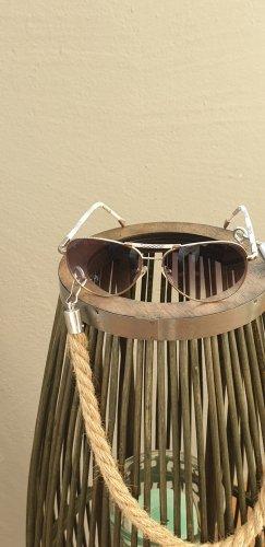 Louis Vuitton Occhiale da sole ovale argento-beige chiaro