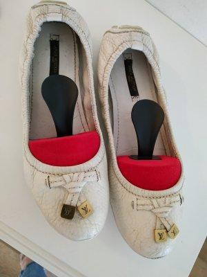 Louis Vuitton Ballerines classiques blanc cassé