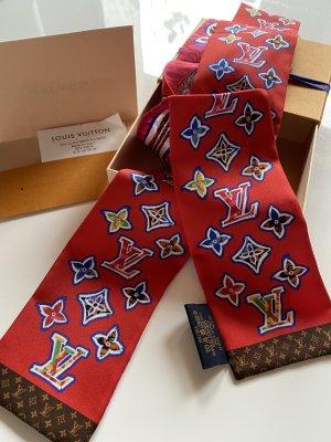 Louis Vuitton Foulard en soie rouge-rose
