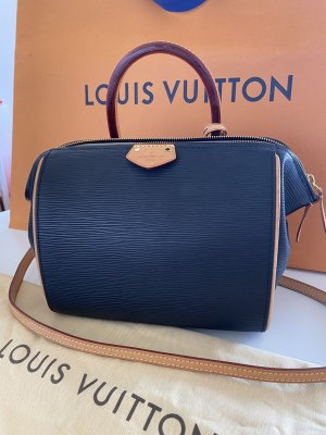 Louis Vuitton Borsetta nero-marrone Pelle