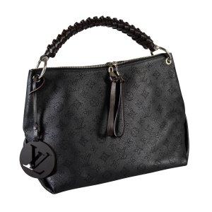 Louis Vuitton Beaubourg Hobo MM Mahina Leder Handtasche Schwarz @mylovelyboutique.com