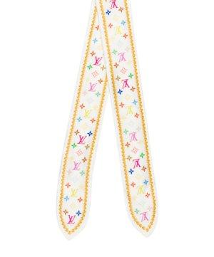 Louis Vuitton Bufanda de seda blanco Seda