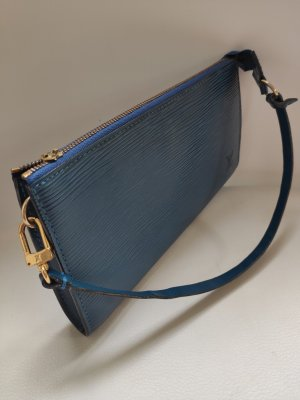 Louis Vuitton Sac de soirée bleu acier cuir