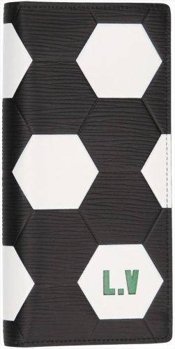 Louis Vuitton Brazza Fifa World Cup Edition Geldbörse, Geldtasche aus Epi Leder in Schwarz und Weiss