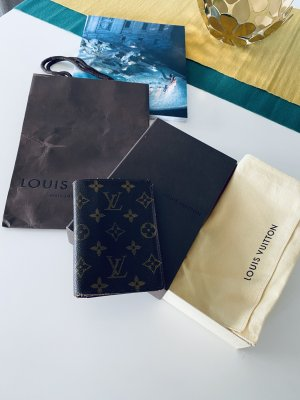 Louis Vuitton Abanico color bronce Cuero
