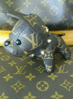 Louis Vuitton Sleutelhanger lichtbruin Leer