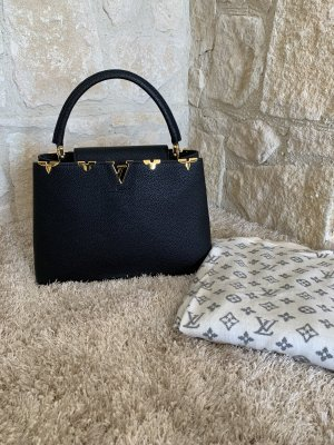 Louis Vuitton Bolso de compra negro-color oro