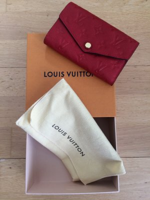 Louis Vuitton Cartera rojo Cuero