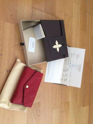 Louis Vuitton Cerise Monogram Empreinte Compact Curieuse Geldbörse