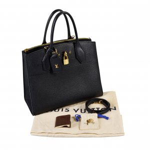 Louis Vuitton City Steamer Tote MM Leder Handtasche Schwarz @mylovelyboutique.com
