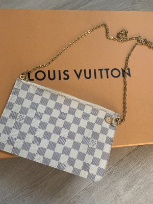 Louis Vuitton Clutch white-dark blue