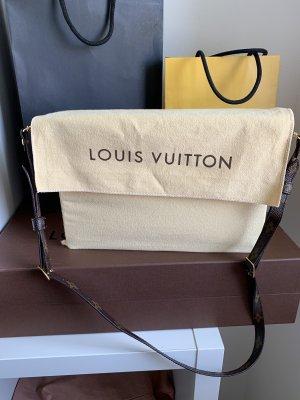 Louis Vuitton Handtas zwart bruin-bruin