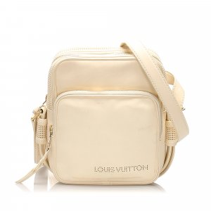 Louis Vuitton Crossbody bag white leather