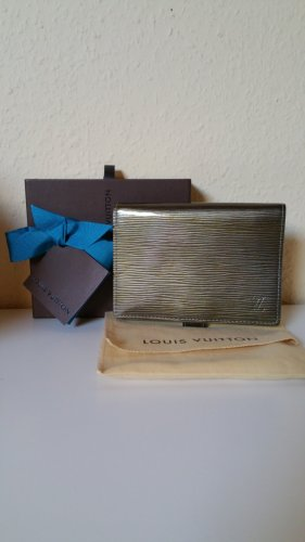 Louis Vuitton Card Case grey-green grey leather