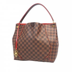 Louis Vuitton Sac hobo brun foncé