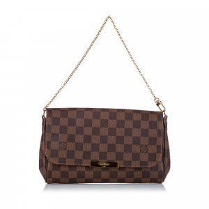Louis Vuitton Gekruiste tas donkerbruin