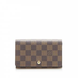 Louis Vuitton Damier Ebene Flap Small Wallet