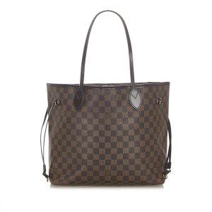 Louis Vuitton Bolso de compra marrón oscuro