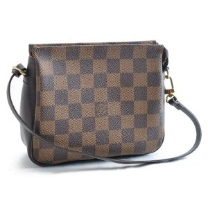 Louis Vuitton Shoulder Bag brown textile fiber