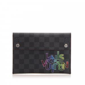 Louis Vuitton Damier Graphite Alpha Triple Pouch MM