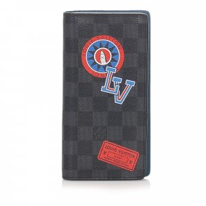 Louis Vuitton Damier Graphite League Stickers Brazza Wallet