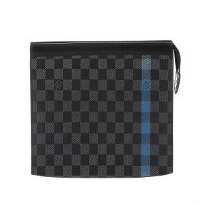 Louis Vuitton Damier Graphite Stripe Pochette Voyage MM