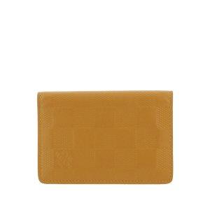 Louis Vuitton Porte-cartes orange cuir