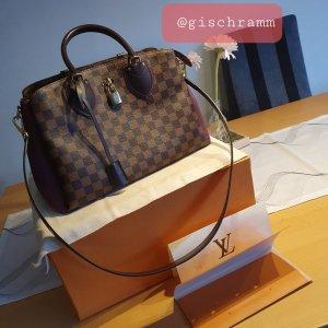 Louis Vuitton Bolso de bolos marrón oscuro Lino