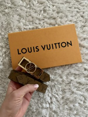 Louis Vuitton Double Belt bronze-colored-black leather