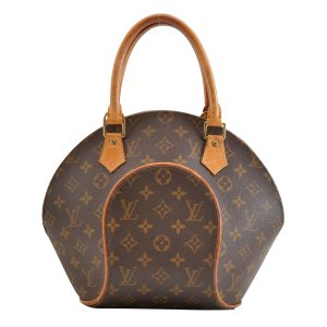 Louis Vuitton Sac à main brun fibre textile