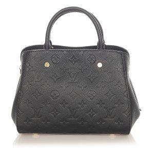 Louis Vuitton Mochila de colegio negro Cuero