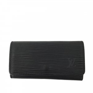 Louis Vuitton Key Case black leather