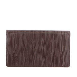 Louis Vuitton Minibolso marrón oscuro Cuero