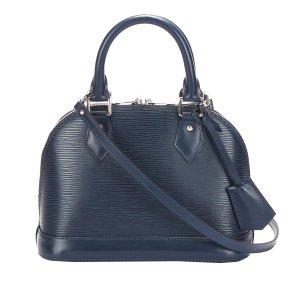 Louis Vuitton Satchel dark blue leather