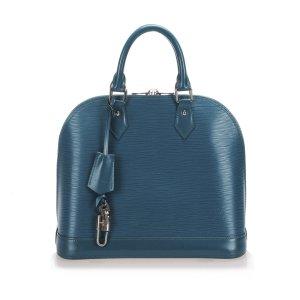 Louis Vuitton Mochila de colegio azul Cuero