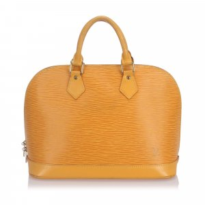 Louis Vuitton Sacoche jaune cuir