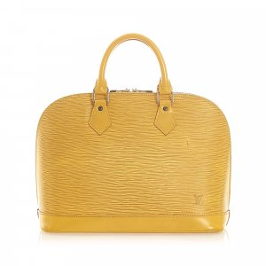 Louis Vuitton Bolso amarillo Cuero
