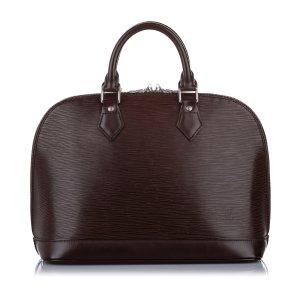 Louis Vuitton Bolso marrón oscuro Cuero