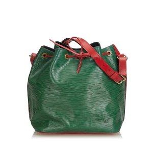 Louis Vuitton Sac porté épaule vert cuir