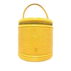 Louis Vuitton Neceser de belleza amarillo Cuero