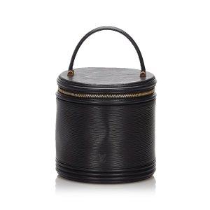 Louis Vuitton Trousse à maquillage noir cuir