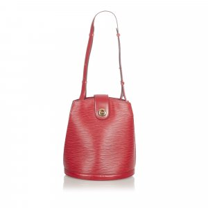 Louis Vuitton Schoudertas rood Leer