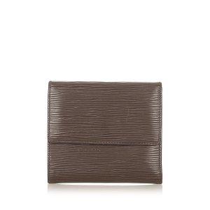 Louis Vuitton Portmonetka ciemnobrązowy Skóra