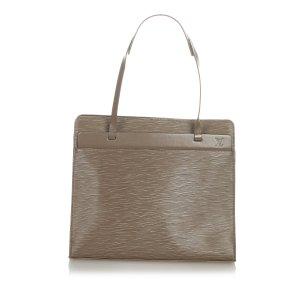 Louis Vuitton Sac porté épaule taupe cuir
