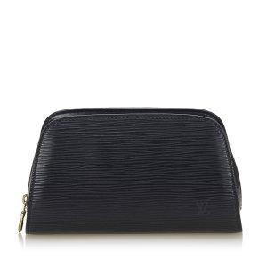 Louis Vuitton Borsellino nero Pelle