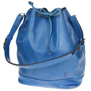 Louis Vuitton Epi Drawstring Schultertasche Blau