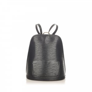 Louis Vuitton Backpack black leather