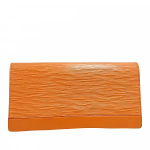 Louis Vuitton Kopertówka pomarańczowy Skóra