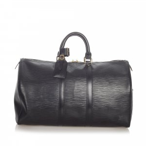 Louis Vuitton Sac de voyage noir cuir